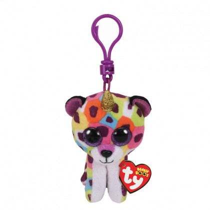 Ty Toys Beanie Boos (Choose From Multiple Sizes) Giselle The Rainbow Leopard With Horn Soft Toys