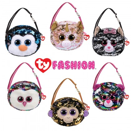 Ty Fashion Sequins Sling Purse   ICY The White Seal