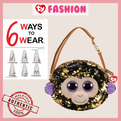 Ty Fashion Sequins Sling Purse | COCONUT The Golden Monkey