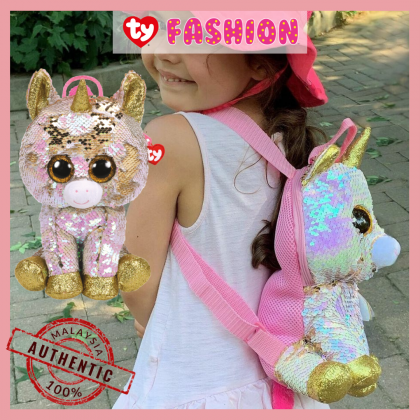 Ty Fashion - Fantasia the Pink Unicorn Sequins Backpack