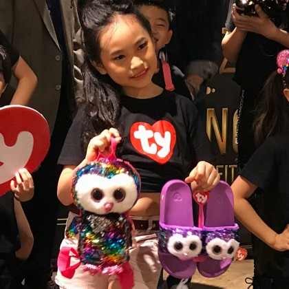 Ty Fashion - Owen the Multicolor Owl Sequins Backpack