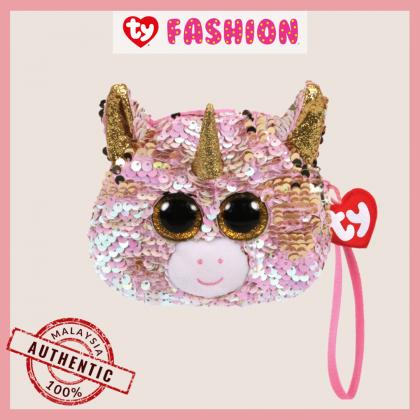 Ty Fashion (Malaysia Official)  Sequins Wristlet  Fantasia the Pink Unicorn