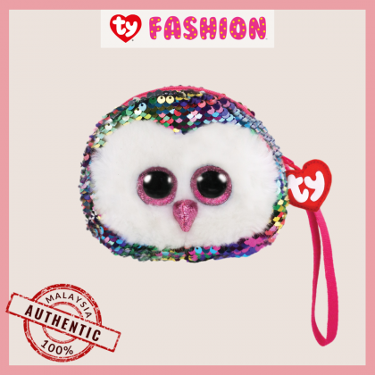 Ty Fashion (Malaysia Official)  Sequins Wristlet  Owen the Multicolor Owl