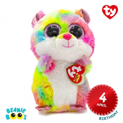 Ty Toys Beanie Boos (Choose From Multiple Sizes) Rodney The Multicolor Hamster Soft Toys
