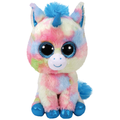 Ty Toys Beanie Boos (Choose From Multiple Sizes) Blitz The Blue Unicorn Soft Toys