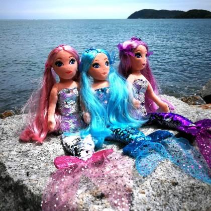 Ty Sea Sequin Medium Size 45cm   CORA The Sequin Pink Mermaid