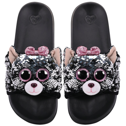 Ty Footwear (Malaysia Official)   Sequin Slides (Small, Medium & Large)   Kiki the Grey Cat