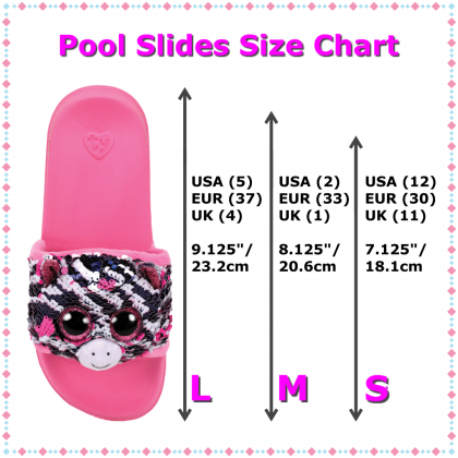 Ty Footwear (Malaysia Official)   Sequin Pool Slides (Small, Medium & Large)   Zoey the Zebra