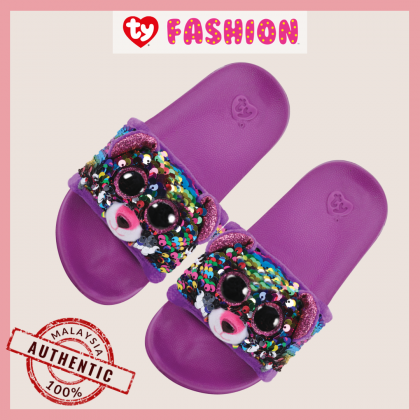 Ty Footwear (Malaysia Official)   Sequin Slides (Small, Medium & Large)   Dotty the Multicolor Leopard