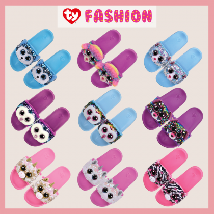 Ty Footwear (Malaysia Official) | Sequin Slides (Small, Medium & Large) | Dotty the Multicolor Leopard