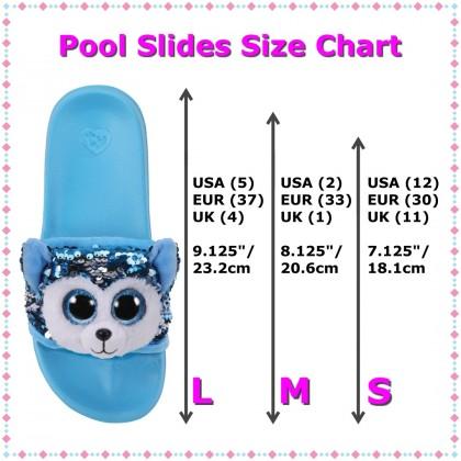 Ty Footwear (Malaysia Official) | Sequin Slides (Small, Medium & Large) | Slush the Husky