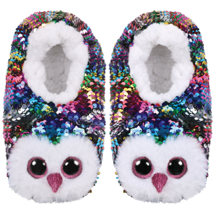 Ty Footwear (Malaysia Official) | Sequin Slipper Socks (Small, Medium & Large) | Owen the Multicolor Owl