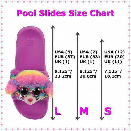 Ty Footwear (Malaysia Official) | Sequin Slides (Small, Medium & Large) | Rainbow the Multicolor Poodle