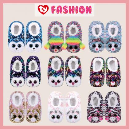 Ty Footwear (Malaysia Official) | Sequin Slipper Socks (Small, Medium & Large) | Diamond the Unicorn