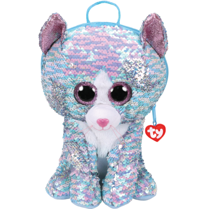 Ty Fashion - Whimsy the Iridescent Cat Sequins Backpack (Large)