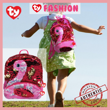 Ty Fashion - Gilda the Pink Flamingo Sequins Backpack (Large)