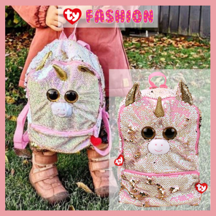 Ty Fashion - Fantasia the Pink Unicorn Sequins Backpack (Large)