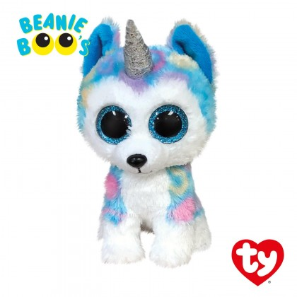 Ty Toys Beanie Boos (Choose From Multiple Sizes) Helena The Multicolor Husky With Horn Soft Toys