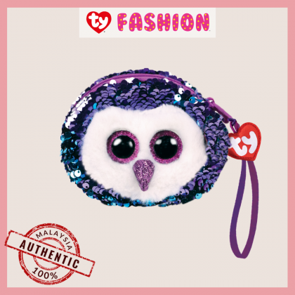 Ty Fashion (Malaysia Official)  Sequins Wristlet  Moonlight the Purple Owl