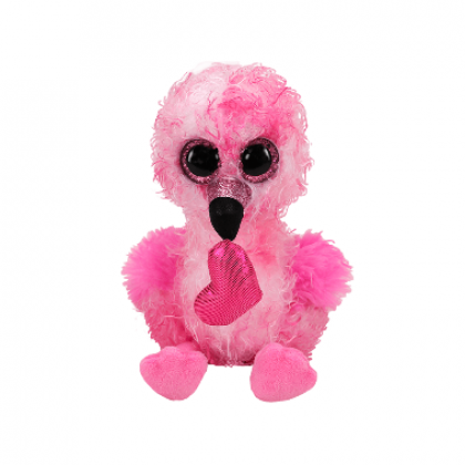 (100% Original) Ty Toys | Beanie Boos (Regular Size) | Dainty Valentine The Flamingo | Soft Toys Gift Ideas For Girls Boys Kids