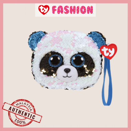 (100% Original) Ty Fashion | Sequins Wristlet | Bamboo The Panda | Accessories Bags Gift Idea for Girls Kids